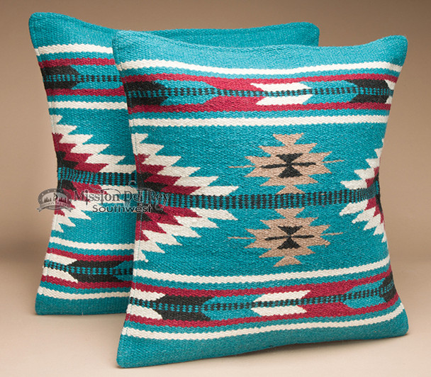Pair Southwest Wool Pillow Covers