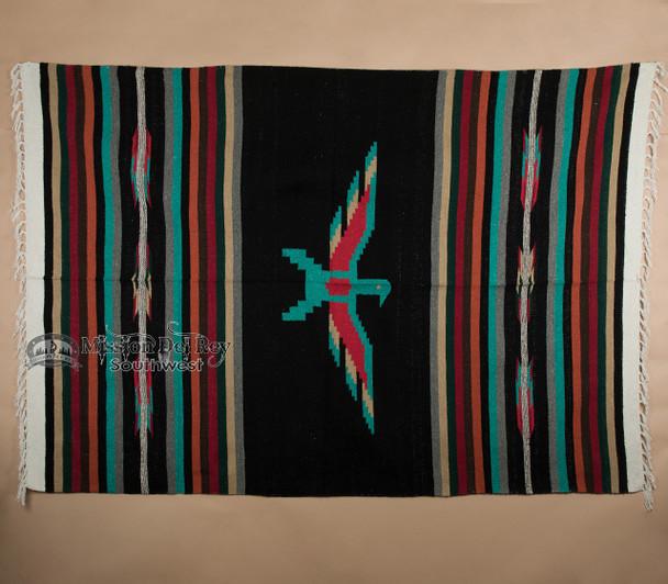 Southwest Thunderbird Blanket -Black
