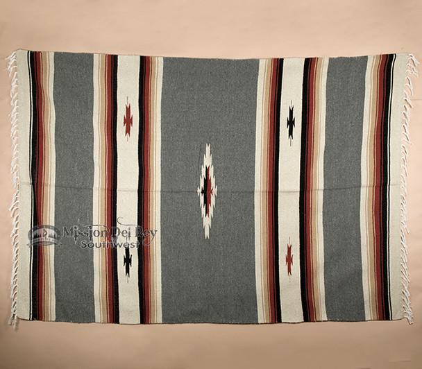 Diamond Southwest Style Blanket 5x7 -Grey