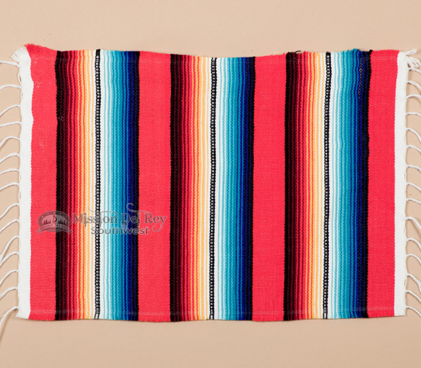 Southwestern Mexican Serape Placemat -Red (spm1)