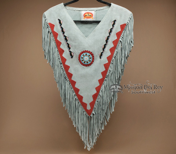 Native Style Beaded Leather Chaleco Dance Shirt