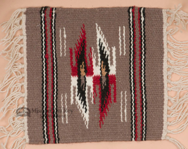 Handwoven Wool Placemat -Chimayo Grey
