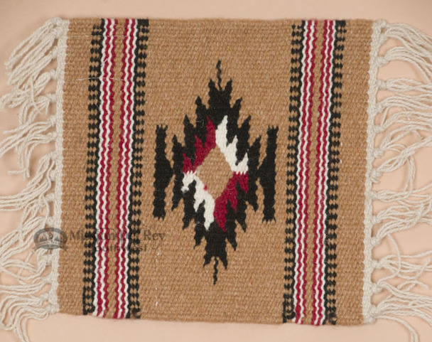 Handwoven Wool Placemat -Chimayo Wheat