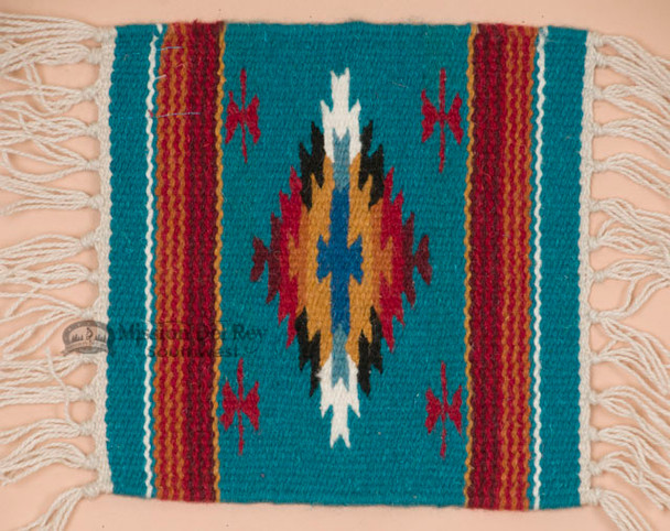 Handwoven Wool Placemat -Chimayo Blue