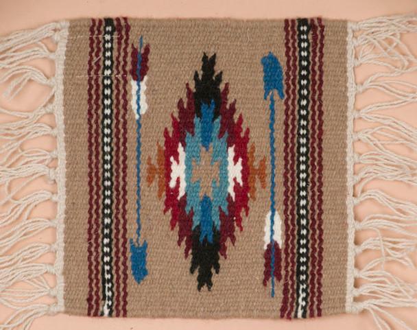 Handwoven Wool Placemat - Chimayo Tan