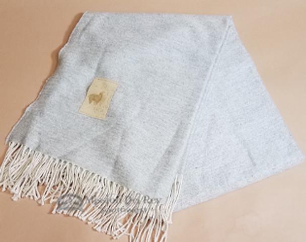 Soft Alpaca Blanket -Solid Grey