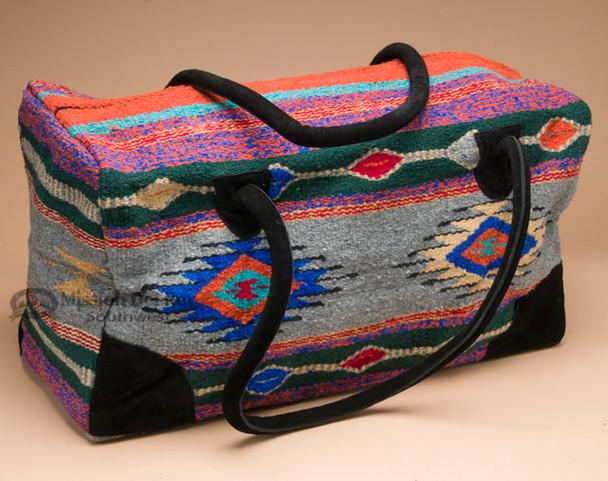 Native Southwest Weekender Rug Bag -Grey