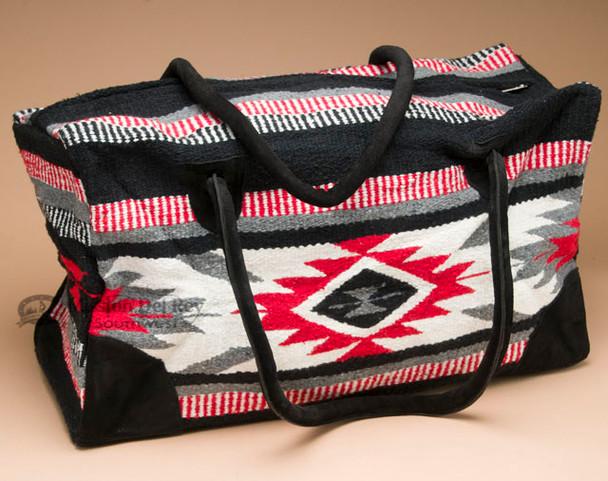 Native Southwest Weekender Rug Bag -Red & White