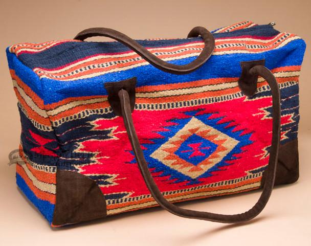 Native Southwestern Weekender Bag -Red