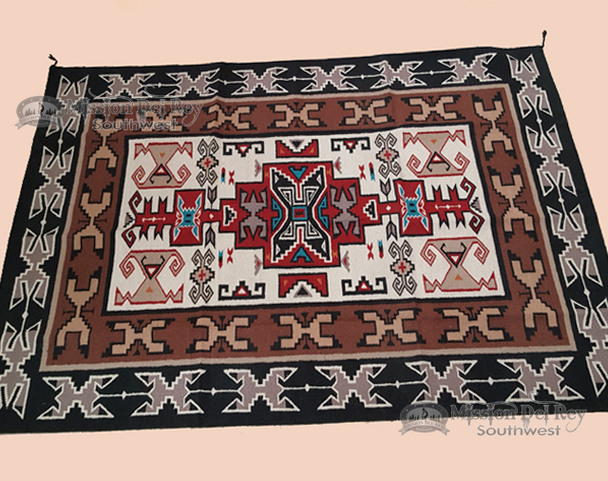 Large Classic Southwestern 6x9 Wool Area Rug