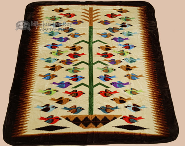 """Southwest Queen Size Blanket 79""""x94"""" -Tree Of Life"""
