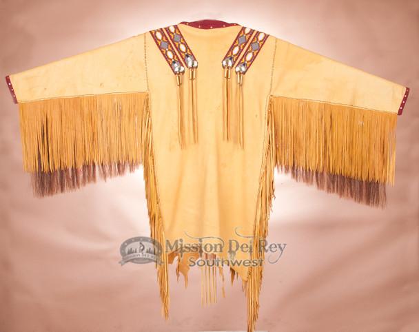 Gold Deer Skin War Shirt -Reverse