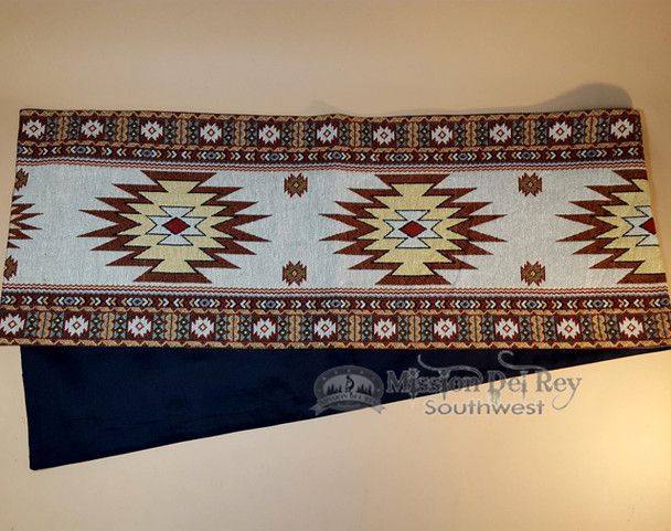 Southwestern tapestry woven table runner