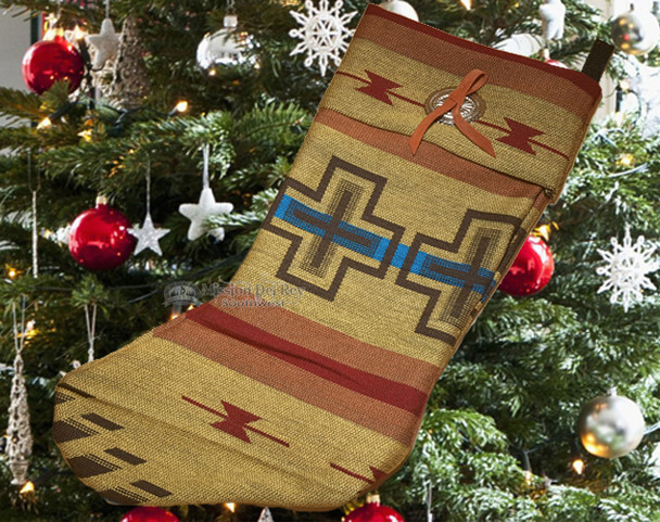 Christmas Stocking with Concho -Isleta Tan