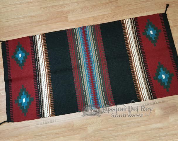 """8 lb. Wool Saddle Blanket 32""""x64"""" -Handwoven"""