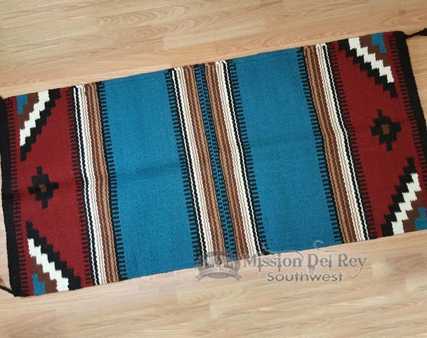 """Handwoven Wool 8 lb. Saddle Blanket 32""""x64"""""""