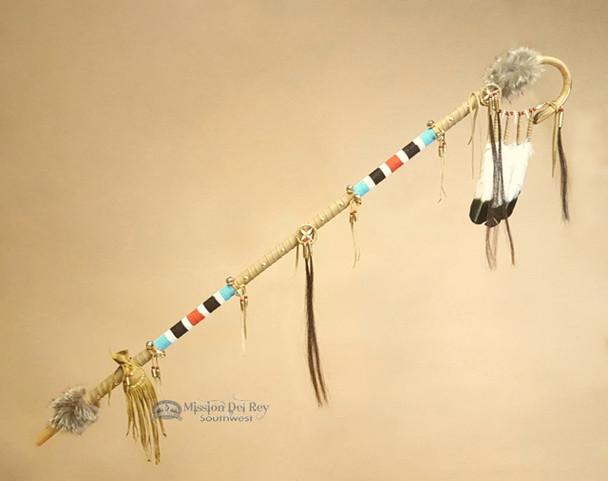 Native American Chief's Medicine Staff -Tigua