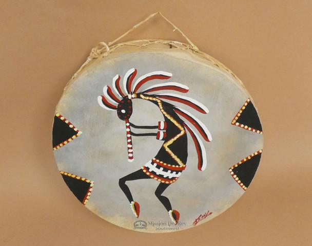 Hand Painted Drum -Kokopelli