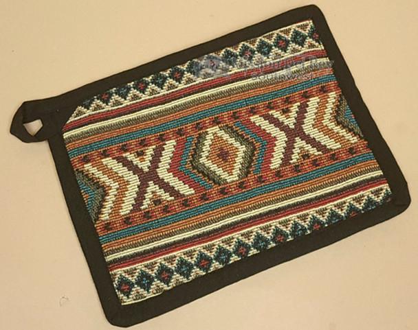 Pot holder with geometric pattern