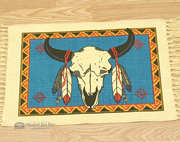 Southwestern Cotton Placemat 13x19 - Steer Skull