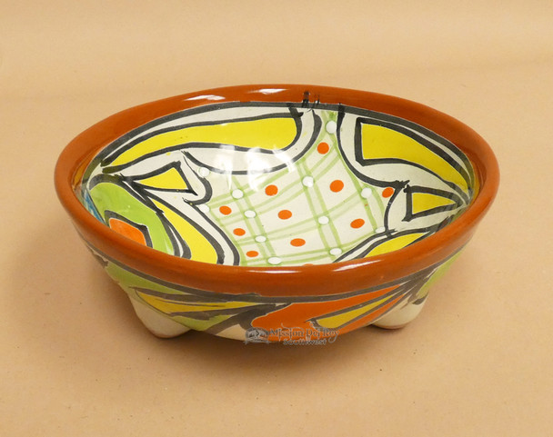 Mexican Talavera Painted Salsa Bowl