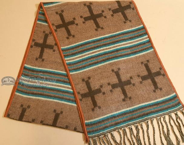 Western Style Designer Scarf - Crosses