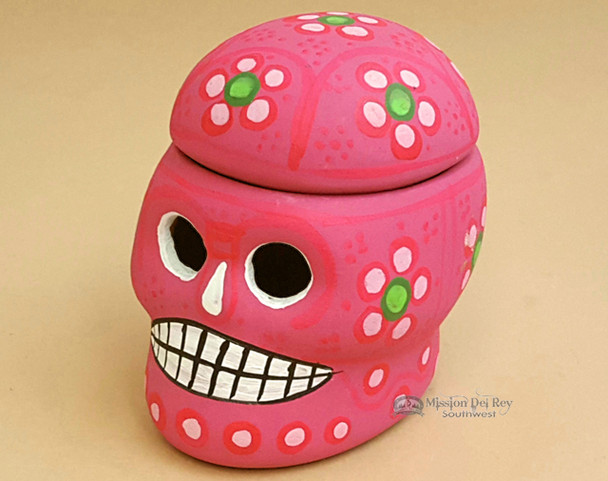 Closed view of Sugar Skull Jewelry Box