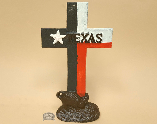 Western Cast Iron- Cross in Texas Flag Colors
