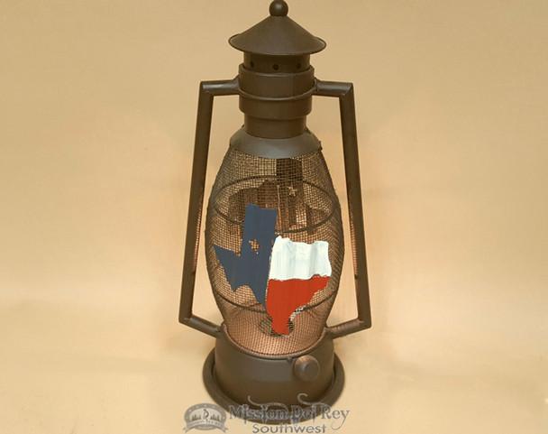 Texas Metal Art Lantern Lamp