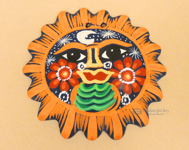 Mexican Hanging Clay Sun