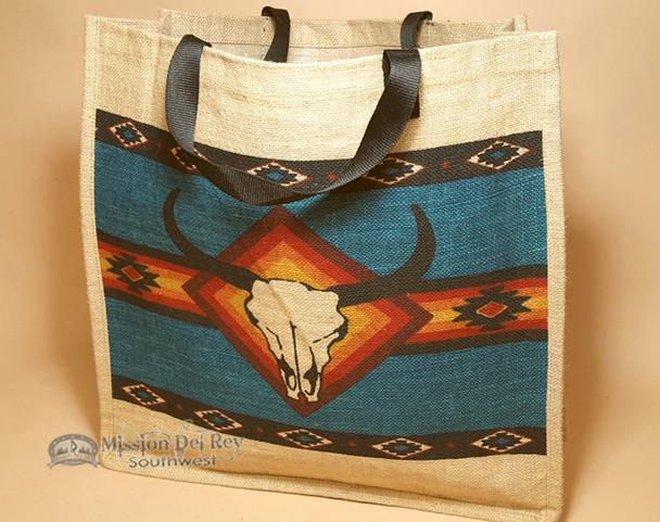 Market Bag 18x18 - Steer Skull