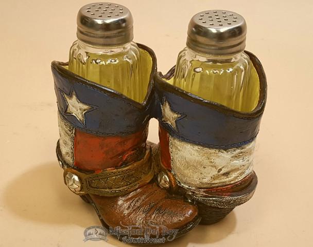 Western Salt & Pepper Shakers - Texas Cowboy Boots