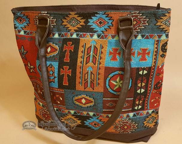Southwestern Hand Woven Tapestry Purse - Western Design