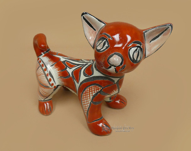 "Southwestern Hand Painted Talavera Dog 8"""