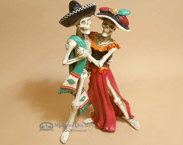 """Day of The Dead Statue - Dancing Skeletons 12"""""""