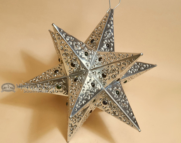 """Handcrafted Tin Hanging Metal Art 12"""" -Star"""