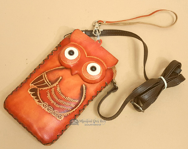 Western Hand Tooled Leather Phone Case