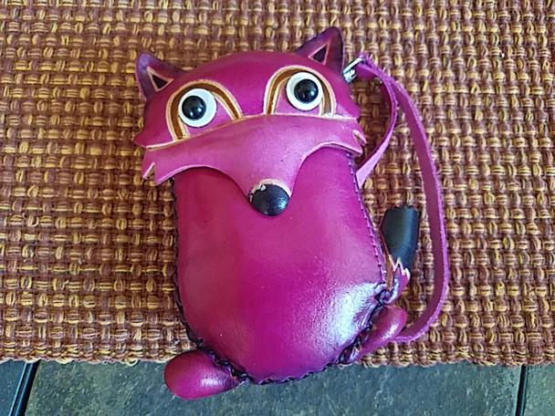 Tooled Leather Southwestern Coin Purse - Fox