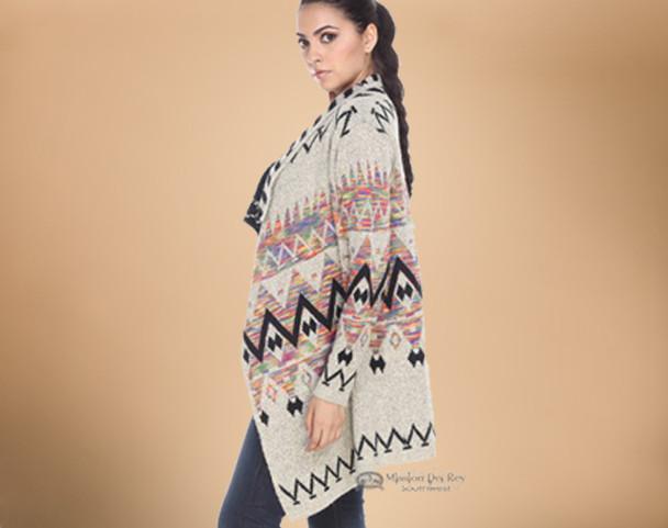 Multi-color Southwestern Sweater - Small