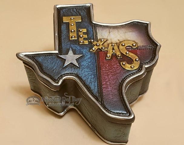 Rustic Western Style Trinket or Jewelry Box - Texas