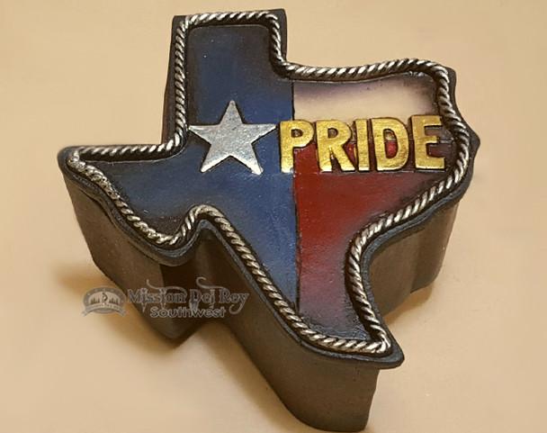 Rustic Western Style Trinket Box - Texas Pride