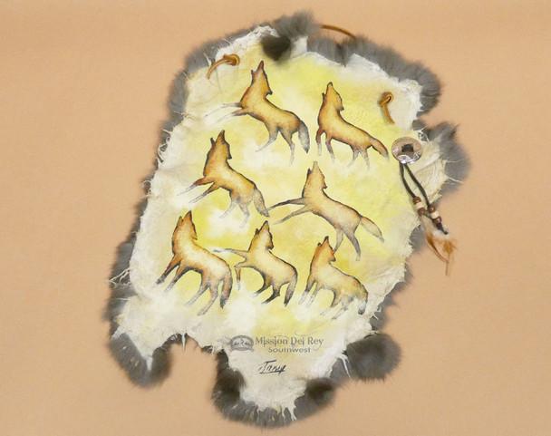 Southwestern Painted Rabbit Hide - Coyote Art