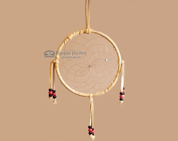 """Beaded Navajo 6"""" Dream Catcher by Curtis Bitsui -Red & Black"""