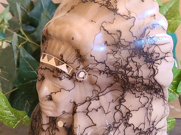 Navajo Horse Hair Pottery Indian Chief
