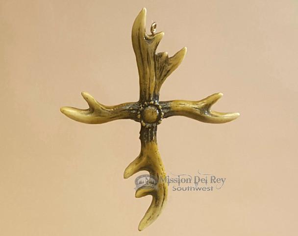 Rustic Antler Cross