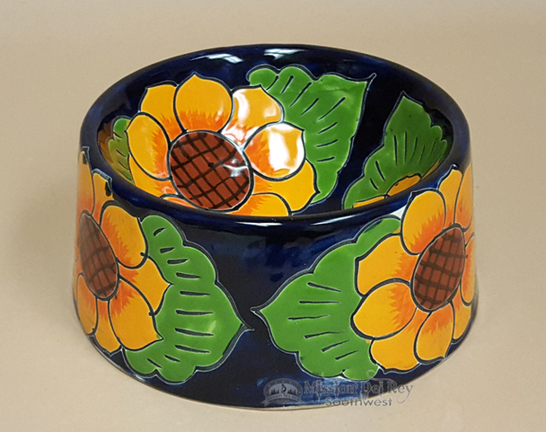 Mexican Talavera Dog Bowl