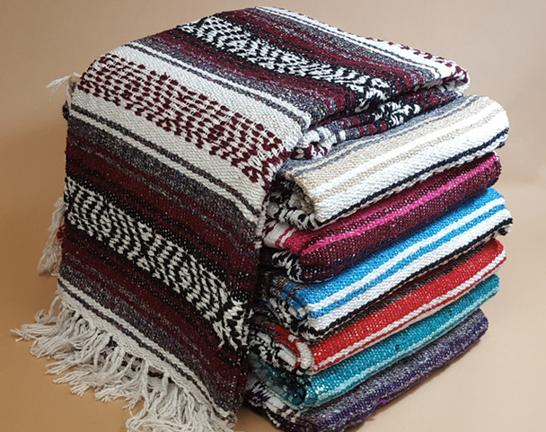Mexican Falsa Blankets Are Available In Many Color Variations - Random Color Ships