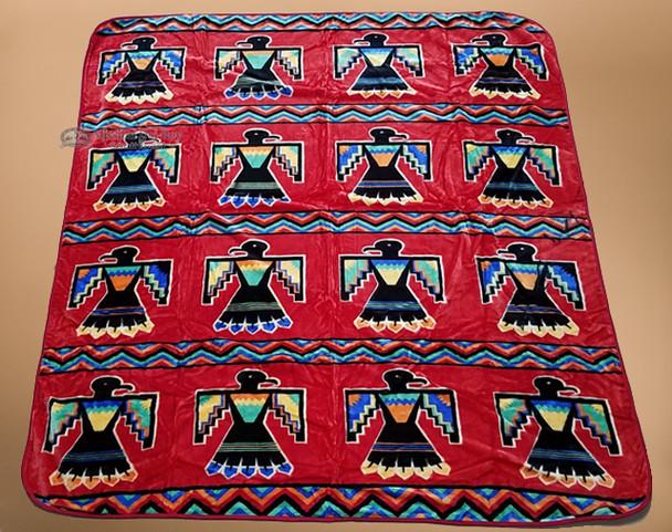 Luxury Plush Southwest Design Blanket -Thunderbird