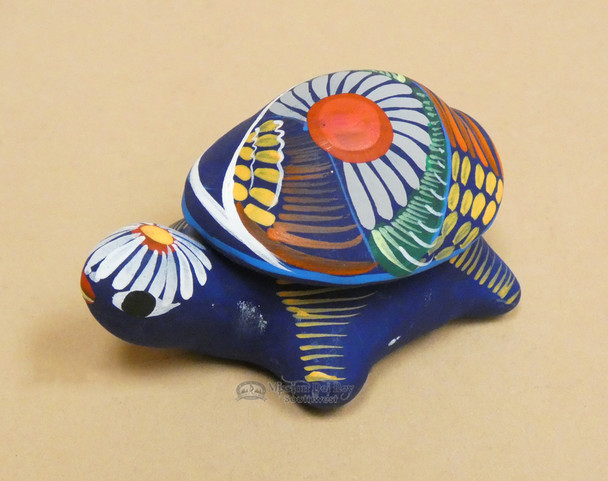 Hand Painted Jewelry Box -Turtle Shell Lid