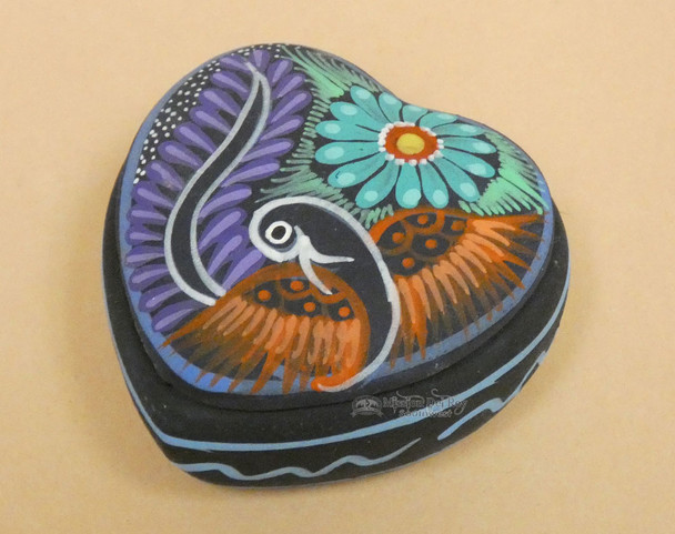 Hand Painted Jewelry Box with Removable Lid